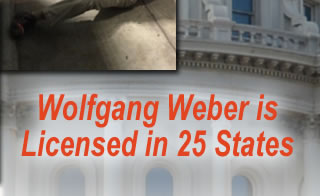 Wolfgang Weber is licensed in 25 states